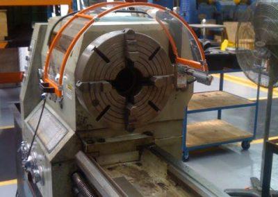 Lathe Chuck Guard Installation on Factory Machine