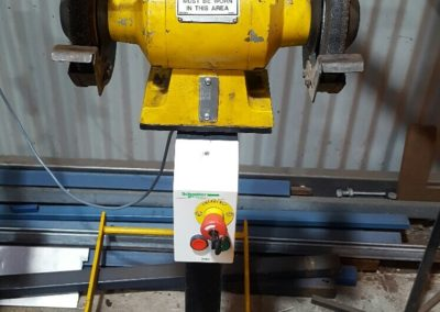 Yellow Grinder with Key Emergency Stop