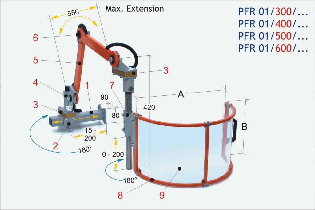 PFR 01 Milling Machine Safety Guard