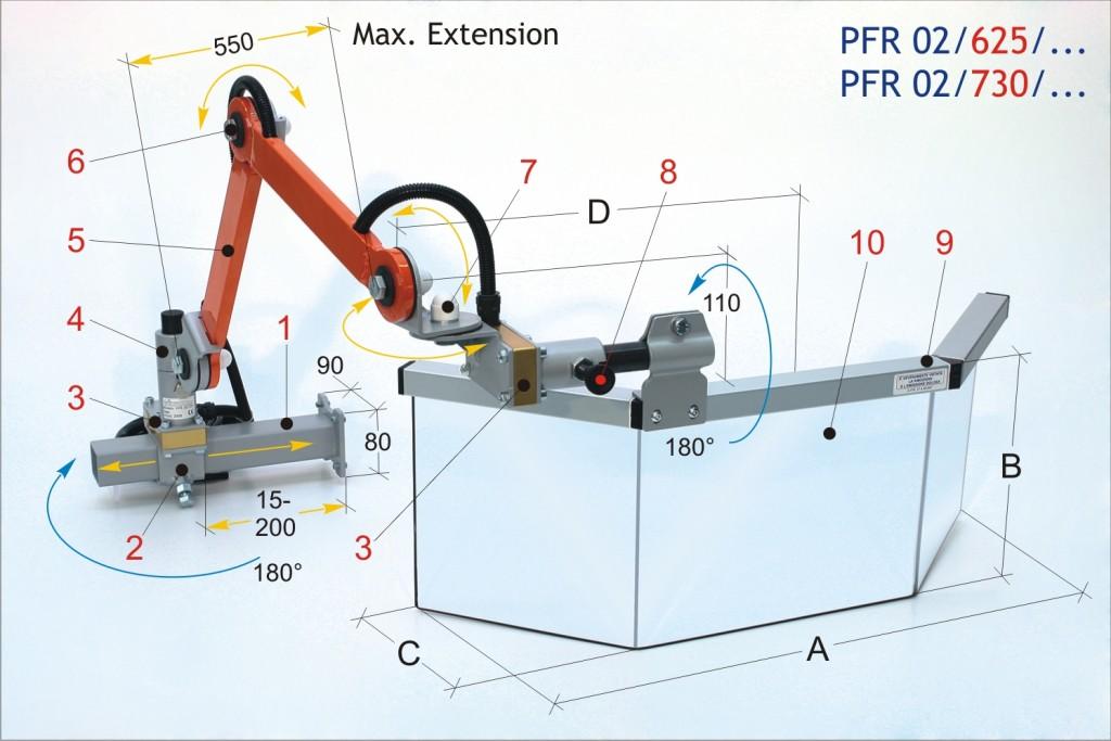 PFR 02 Universal Milling Machine Safety Guard