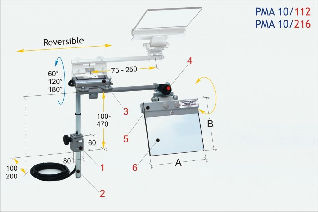 Tecno PMA 10 Pedestal Grinder Eyeshields