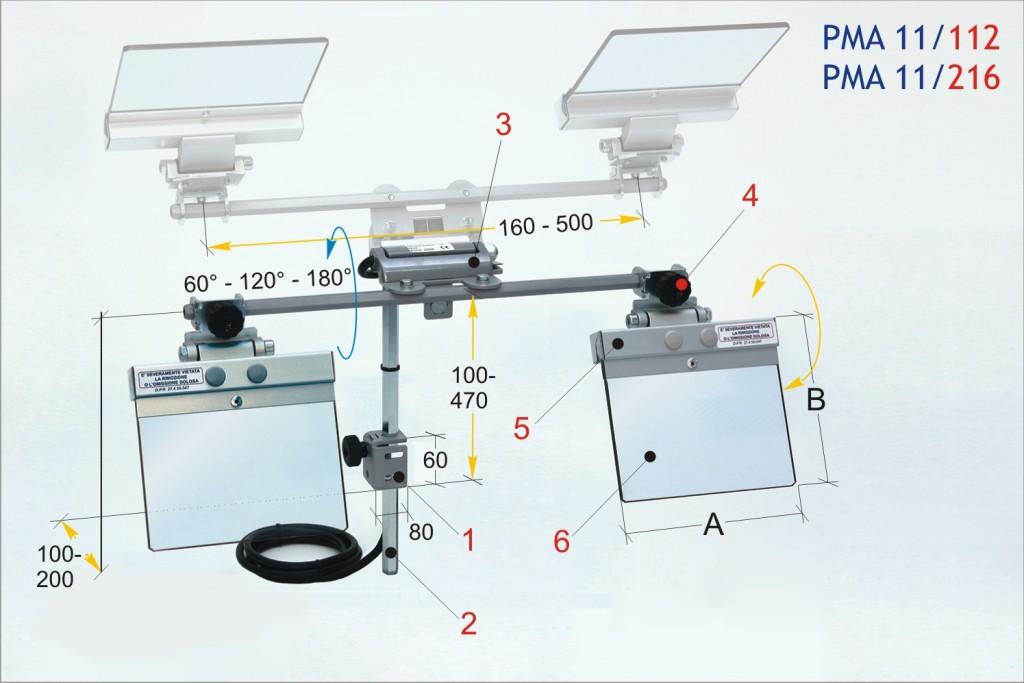 Tecno PMA 11 Pedestal Grinder Eyeshields